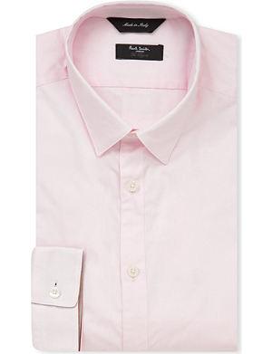 PAUL SMITH LONDON Plain slim fit single cuff shirt