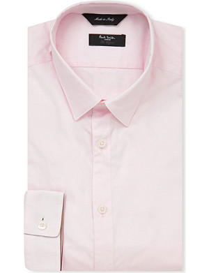 PAUL SMITH LONDON Plain slim fit single cuff shirt