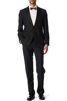 PAUL SMITH LONDON Byard satin–trimmed evening suit black