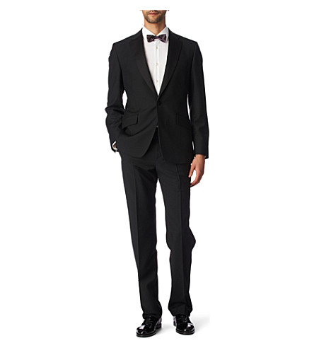 PAUL SMITH LONDON Byard satin–trimmed evening suit black (Black