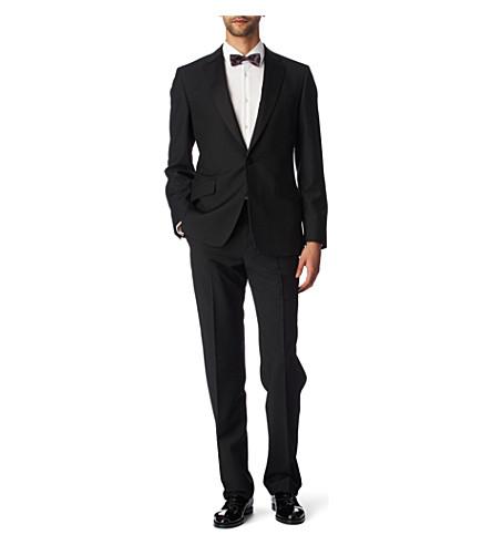 PAUL SMITH Byard satin–trimmed evening suit black (Black