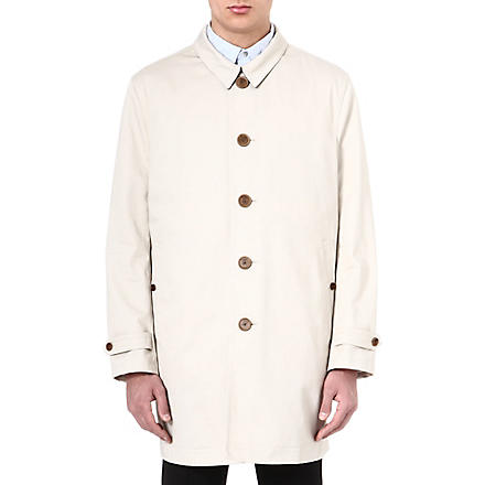 PAUL SMITH LONDON Detachable-insert trench coat (Ivory