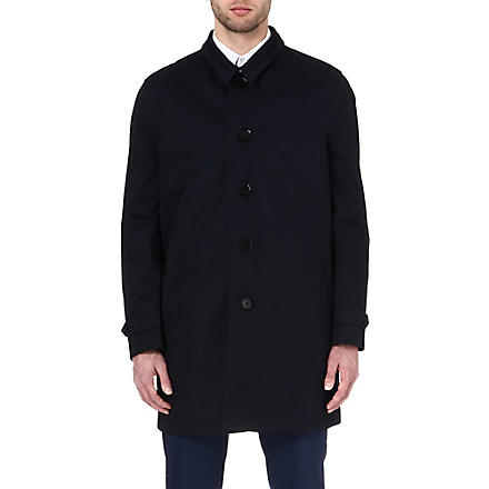 PAUL SMITH LONDON Detachable-insert trench coat (Navy