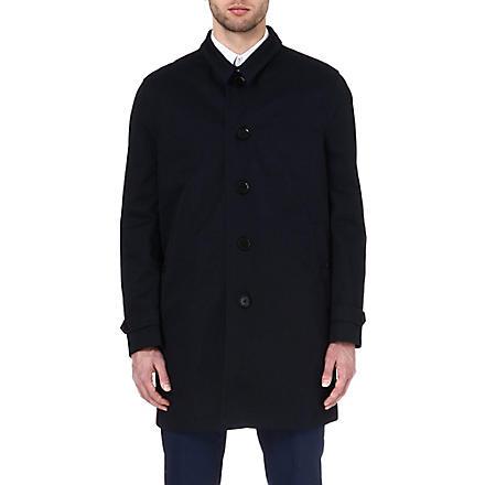PAUL SMITH LONDON Detachable-insert trench coat (Navy