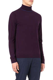 PAUL SMITH LONDON Merino wool roll neck jumper