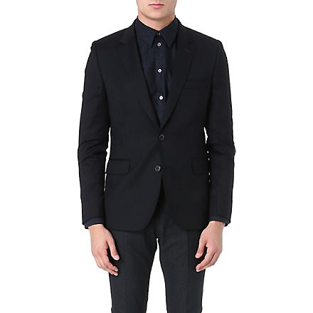 PAUL SMITH MAINLINE Single-breasted wool jacket (Black