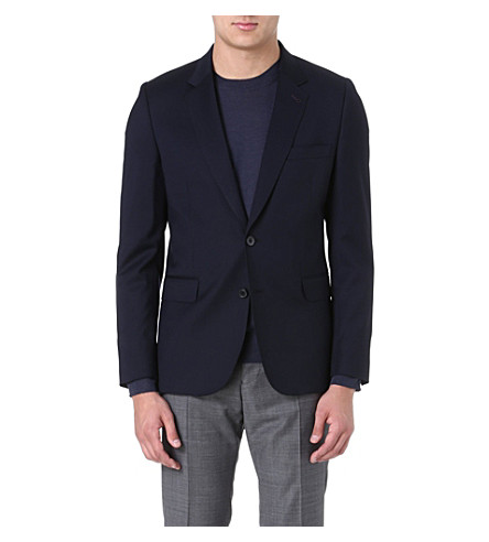 PAUL SMITH MAINLINE Single-breasted wool jacket (Navy