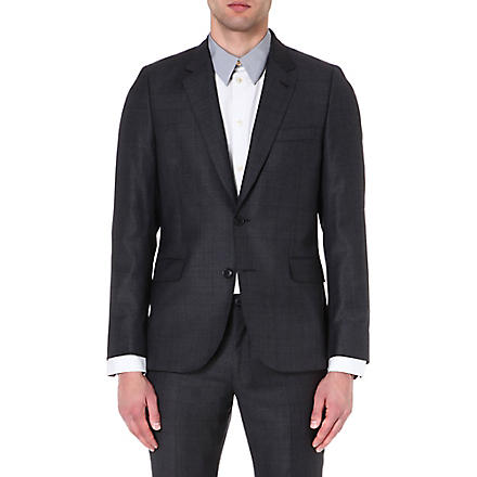 PAUL SMITH MAINLINE Prince of Wales checked wool jacket (Grey