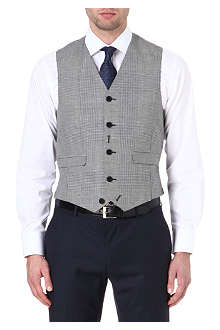 PAUL SMITH LONDON Check printed waistcoat