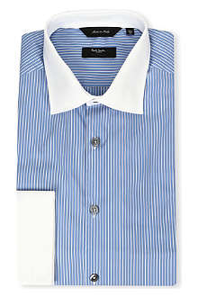 PAUL SMITH LONDON Contrast collar and cuff striped shirt
