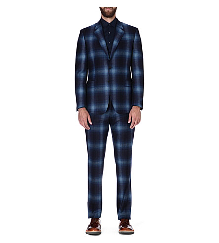 PAUL SMITH LONDON Single-breasted wool suit (Blue