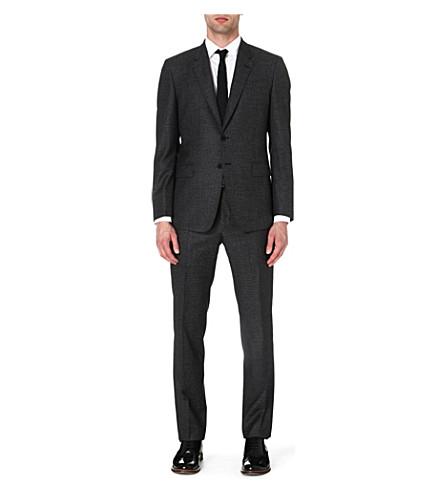 PAUL SMITH LONDON Byard micro-gingham suit (Black