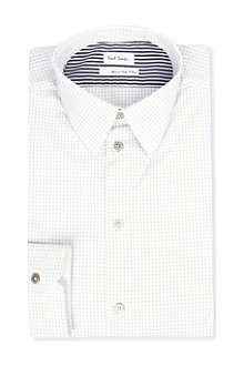 PAUL SMITH MAINLINE Graph check panel shirt