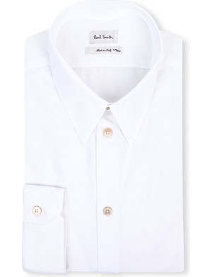 PAUL SMITH MAINLINE Gold-button slim-fit shirt