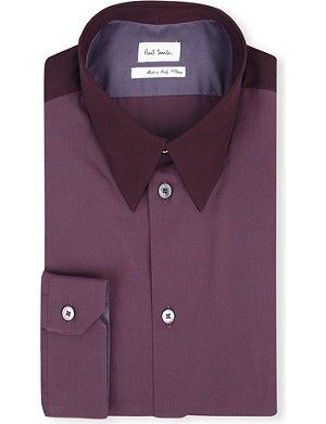 PAUL SMITH MAINLINE Slim-fit panelled shirt