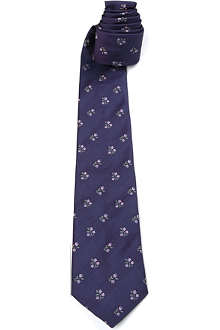 PAUL SMITH Tiny flowers silk tie