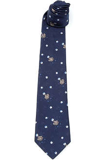PAUL SMITH Silk large flowers tie