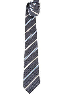 PAUL SMITH Striped polka-dot silk tie