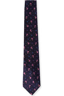 PAUL SMITH Rose pattern silk tie