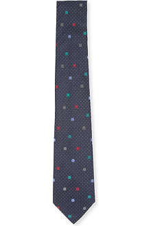 PAUL SMITH Multi spots silk tie