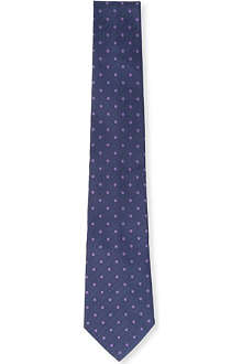 PAUL SMITH Polka dot and chevron silk tie