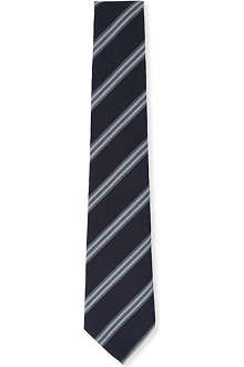 PAUL SMITH Multi wide stripe silk tie