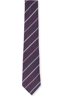 PAUL SMITH Multi stripe silk tie