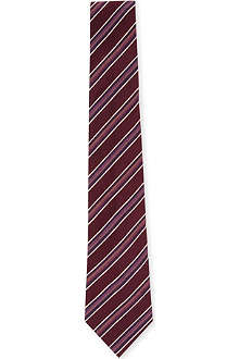 PAUL SMITH Diagonal stripe pin-dot tie
