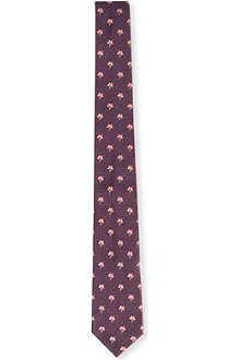 PAUL SMITH Flower and dot pattern tie