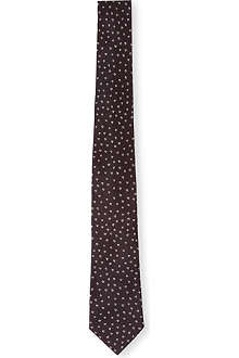 PAUL SMITH Hand-drawn heart silk tie