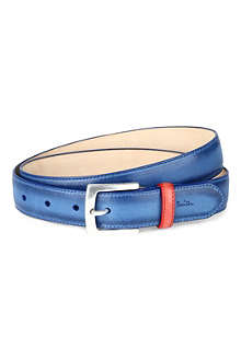 PAUL SMITH LONDON Hand burnished leather belt