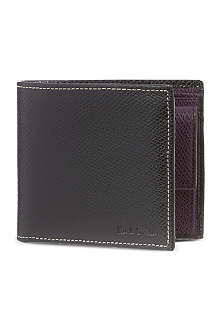 PAUL SMITH LONDON Pebbled leather coin billfold
