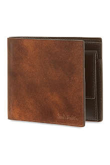 PAUL SMITH LONDON Welded edge leather coin billfold
