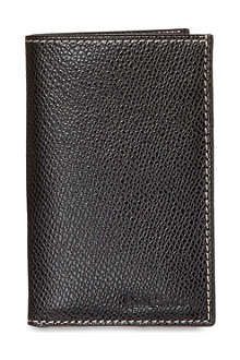 PAUL SMITH LONDON Pebbled leather card case