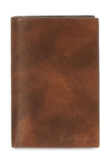 PAUL SMITH LONDON Welded edge leather card case