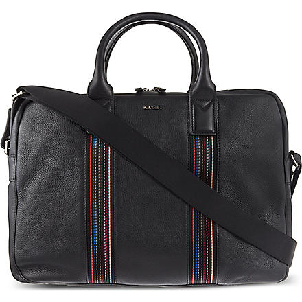 PAUL SMITH LONDON City Webbing folio bag (Black