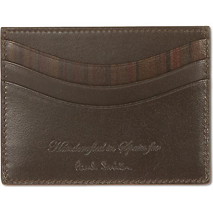 PAUL SMITH LONDON Small welded edge card case (Chocolate