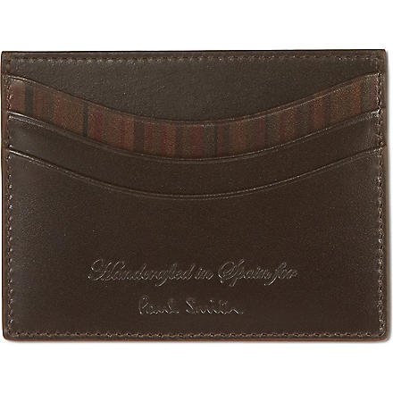PAUL SMITH LONDON Small welded edge card case (Tan