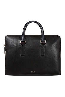 PAUL SMITH LONDON Pebble-embossed portfolio bag
