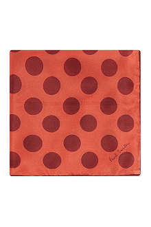 PAUL SMITH Big polka dot silk pocket square
