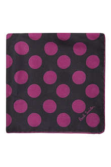 PAUL SMITH ACCESSORIES Big polka dot silk pocket square