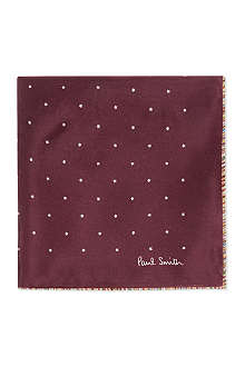 PAUL SMITH ACCESSORIES Striped edge star pocket square