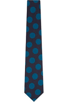 PAUL SMITH Large spot silk tie