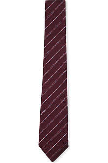 PAUL SMITH Diagonal dash striped silk tie