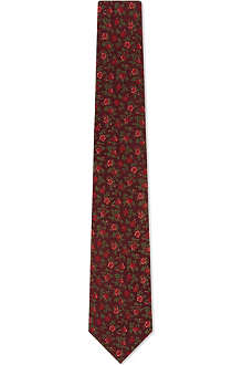 PAUL SMITH Bi-colour floral silk tie