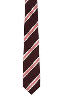 PAUL SMITH Tonal bar striped silk tie