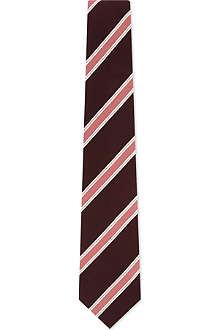 PAUL SMITH ACCESSORIES Tonal bar striped silk tie