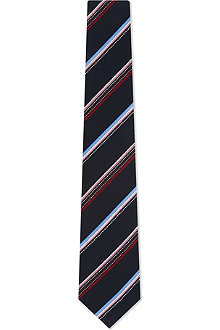 PAUL SMITH Striped dot dash silk tie