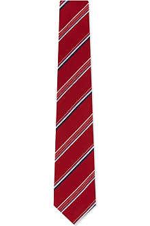 PAUL SMITH ACCESSORIES Striped dot dash silk tie