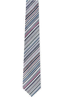 PAUL SMITH Multi-striped silk tie